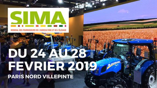 Le SIMA se déroule du 24 au 28 février 2019 à Paris Nord Villepinte.