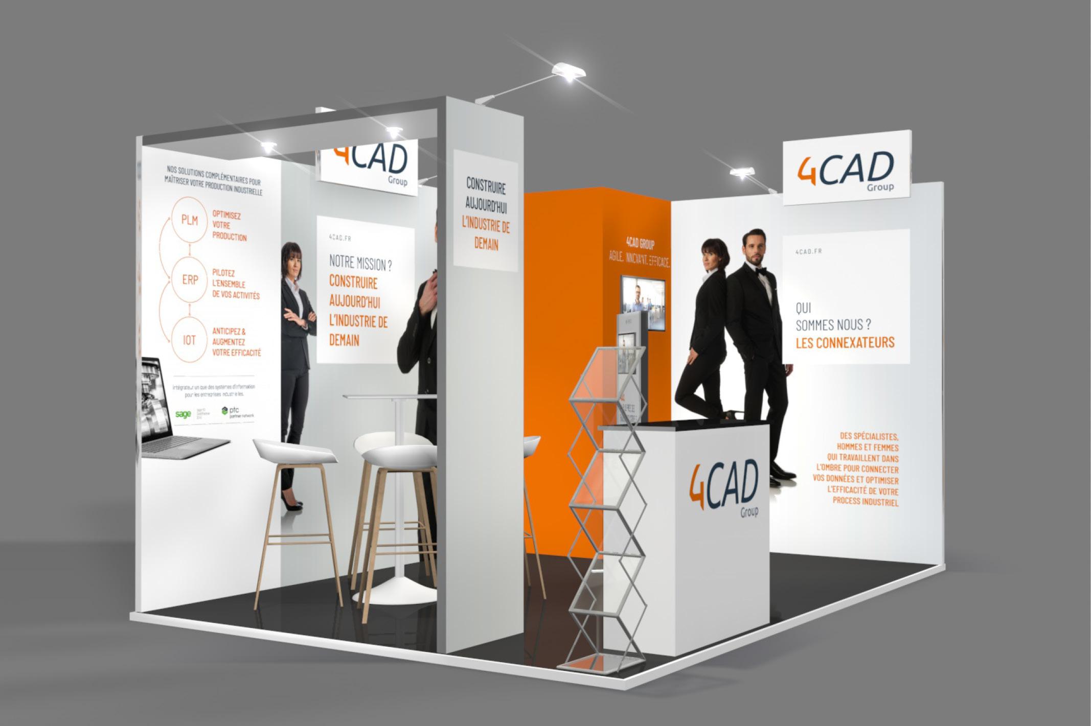Petite version du stand évolutifs de la société 4CAD.