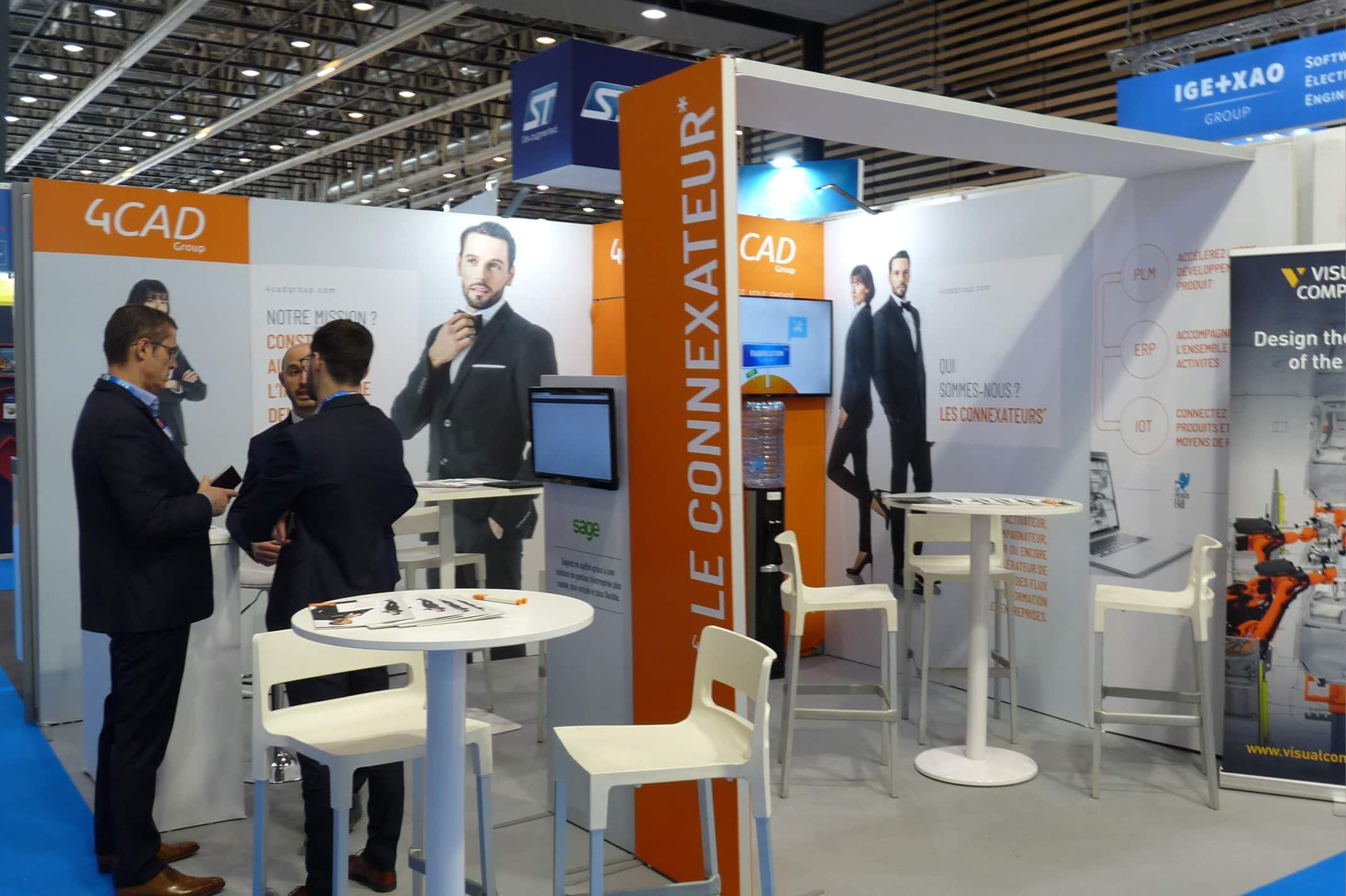 La société 4CAD est présente dans de nombreux salons professionnels français.