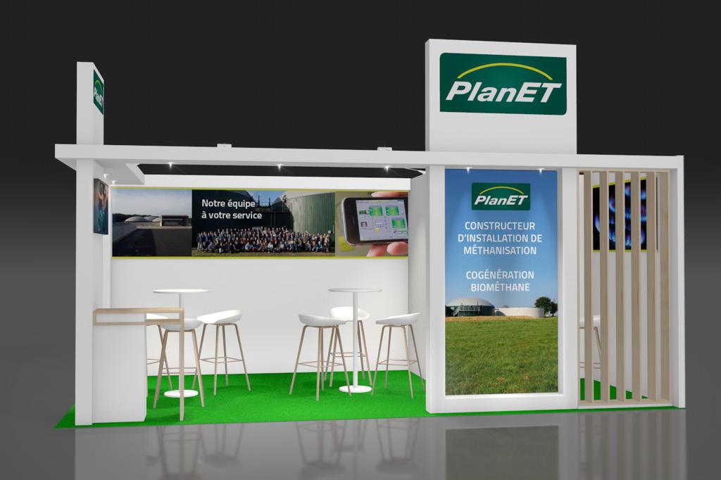 Un stand de 18 m2 pour la présence de Biogaz Planet sur le salon du SIMA 2019