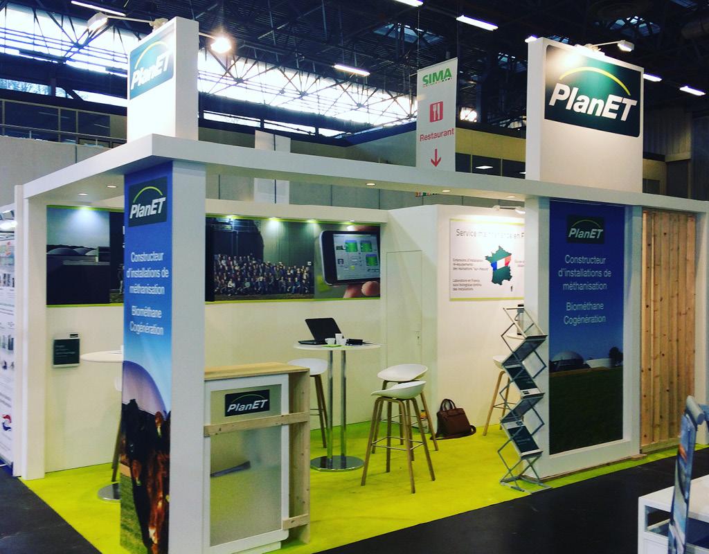 La société Biogaz PLANET France était présent sur le salon du SIMA pour l'édition 2019