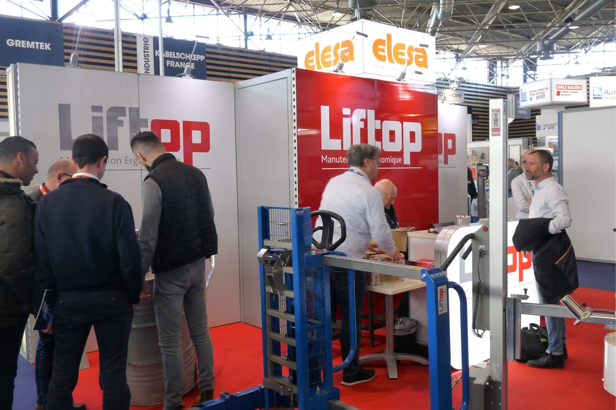 La société Liftop utilise son stand modulable au mois une fois par mois partout en France : salon du MIDEST, SEPEM, CFIA, SIVAL