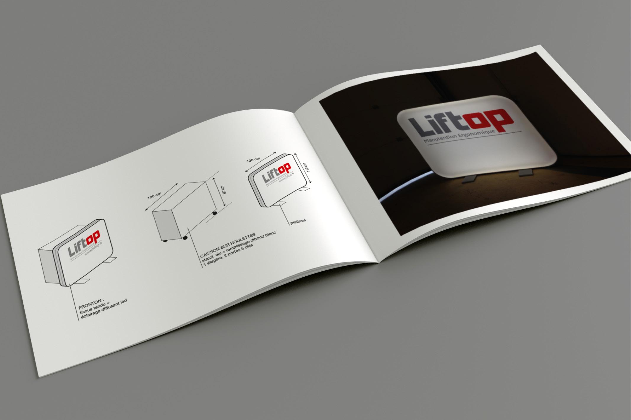 La création d'un stand modulable et évolutif pour l'entreprise Liftop, lui permet d'être présent sur divers salons.
