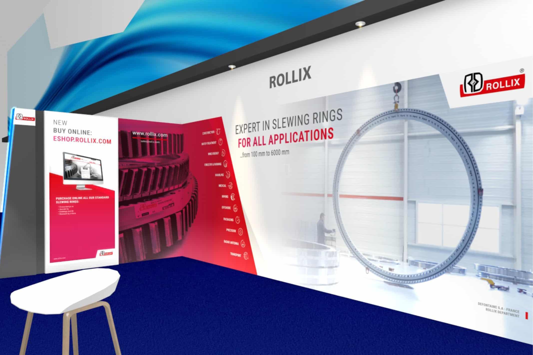 Bicub apporte une réponse adaptée à chaque salon auquel Rollix va participer en 2019.