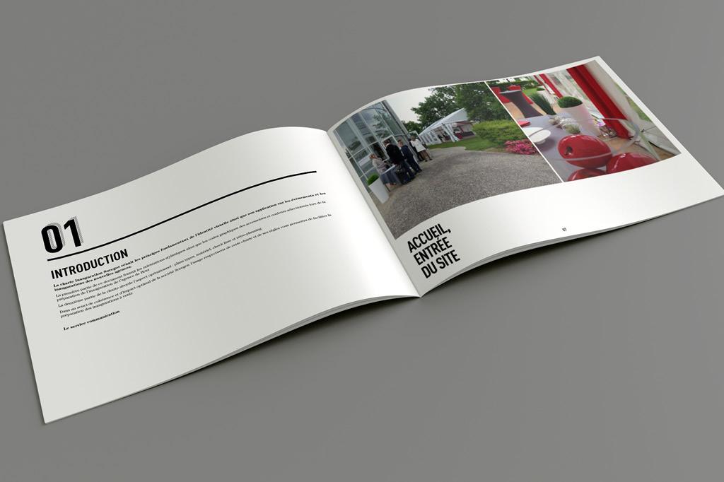 Guide pratique des contraintes graphiques, d'implantation, de décoration et techniques pour la soirée d'inauguration de Soregor.