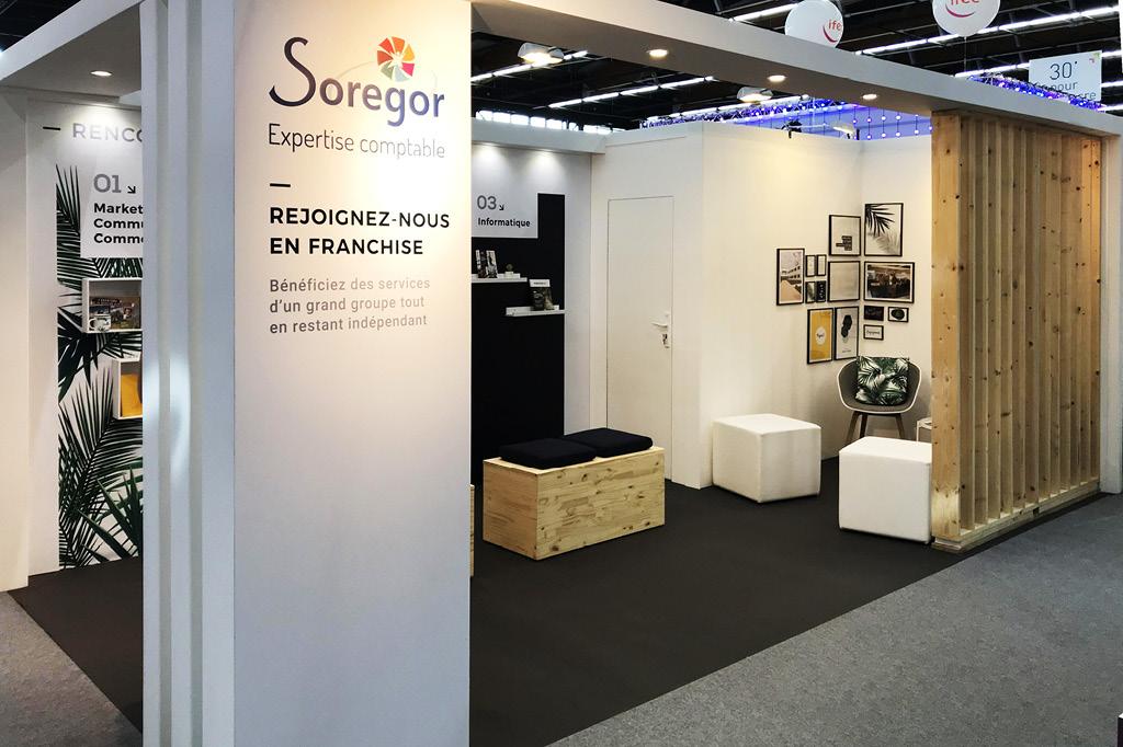 Création du stand de Soregor pour le congrès des experts comptables 2018.