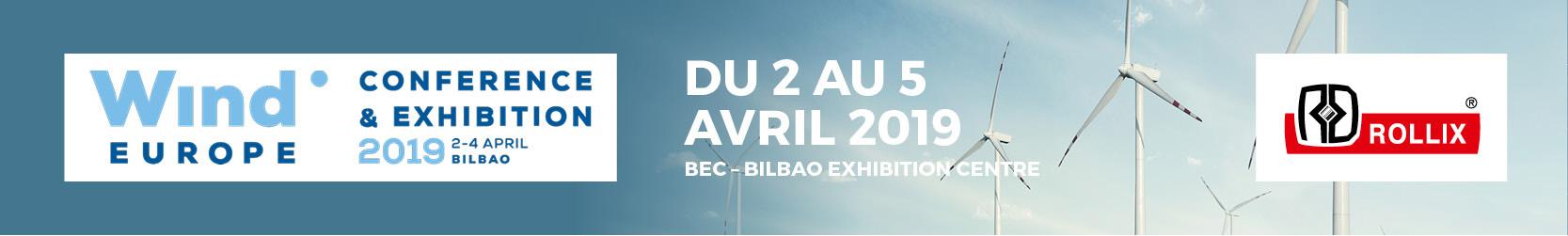 Le salon WindEurope a lieu du 2 au 5 avril à Bilbao en cette année 2019.