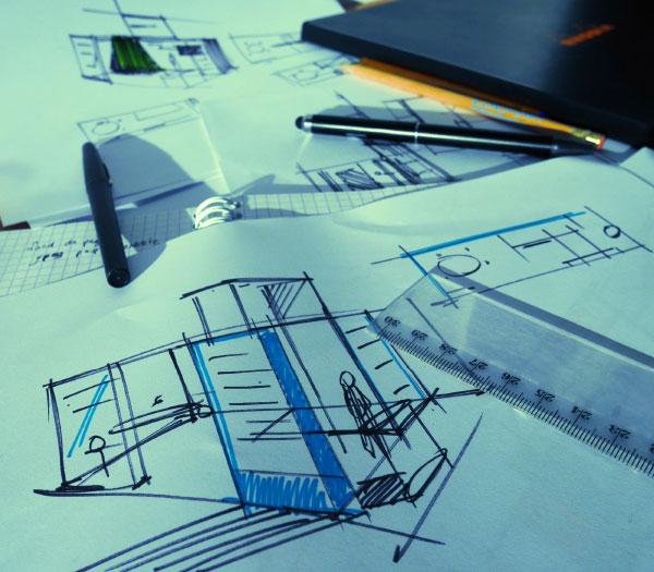 Bicub s'occupe de la création graphique de vos projets en design d'espace.