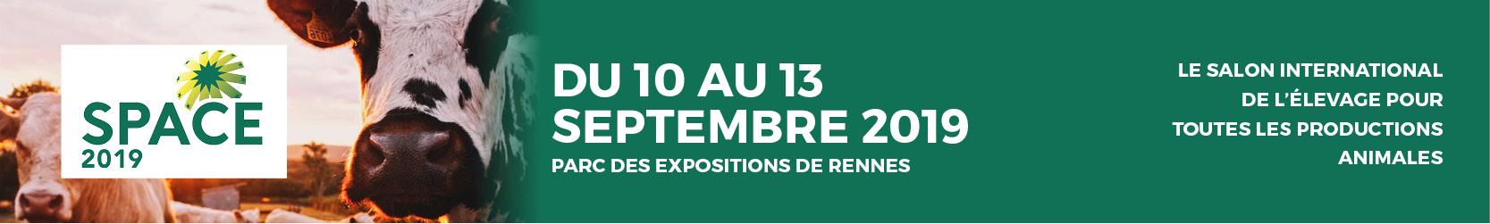 Le SPACE 2019 a lieu comme tout les ans à Rennes du 10 au 13 septembre 2019.
