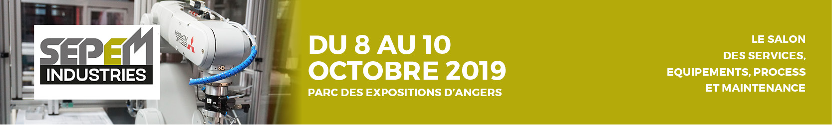 Le salon des services, équipements, process et maintenance a lieu au parc des expositions d'Angers du 8 au 10 octobre 2019.