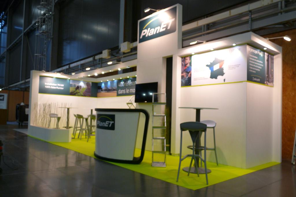 Stand de 24 m2 pour représenter Biogaz Planet.