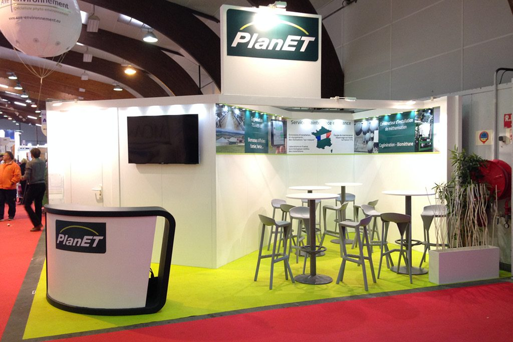 Création d'un stand Biogaz Planet France dans le cadre du SPACE à Rennes.
