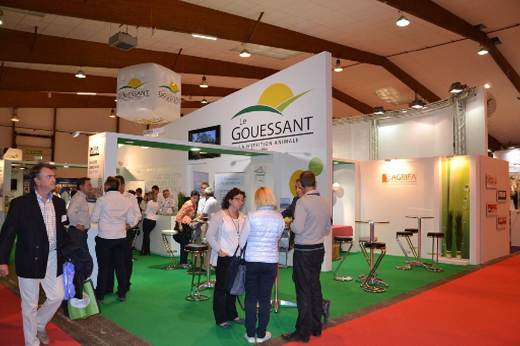 Grand stand de 164 m2 pour l'entreprise Le Gouessant lors du SPACE 2015-2016.